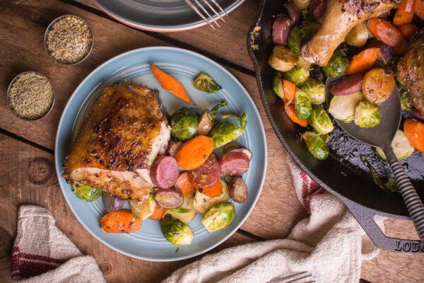 خوراک مرغ کبابی با سبزیجات | جوشونده