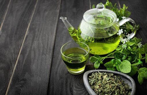 قوری چای سبز | جوشونده
